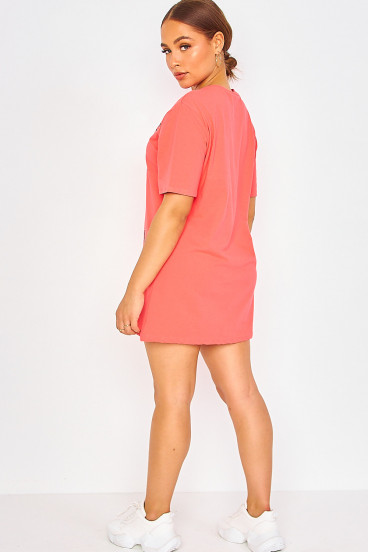 Robe t-shirt corail The rolling stones