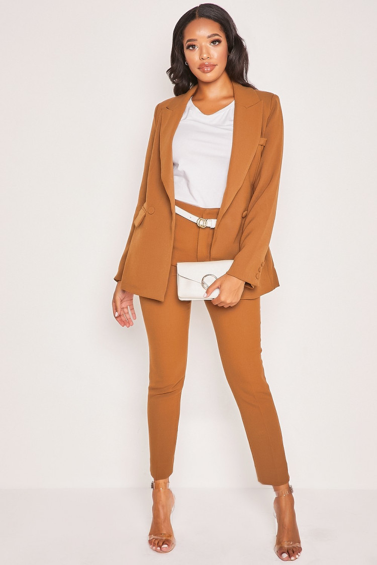 Pantalon cigarette marron - Brentiny Paris
