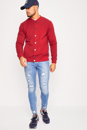 Bomber fin rouge