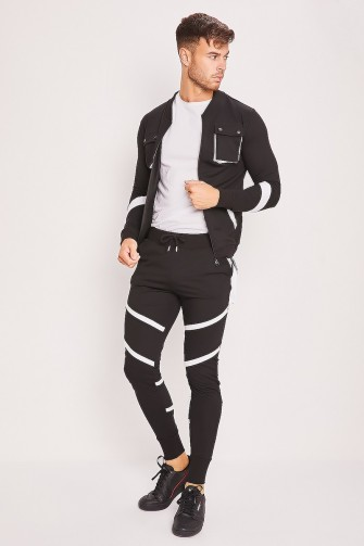 Ensemble jogging noir et blanc / Uniplay