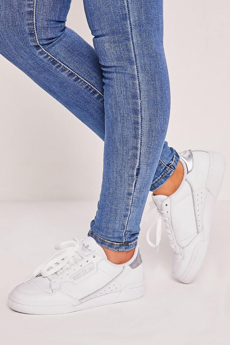adidas continental 80 femme argent