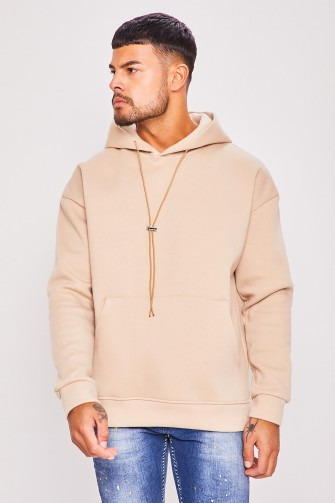 Sweat à capuche beige / Uniplay