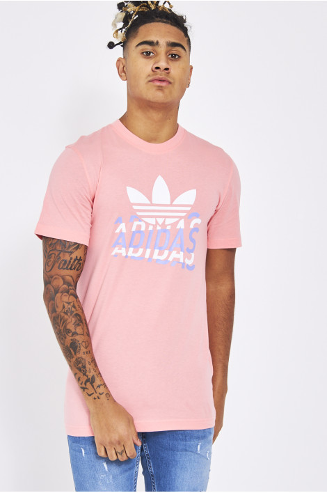 t shirt adidas rose homme